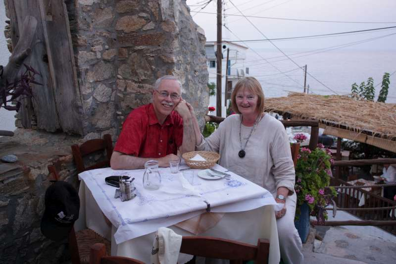 Patrick & Megan on holiday in Ikaria 2008